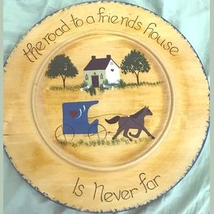 GORGEOUS Folk Art Sampler on Circular Wood.